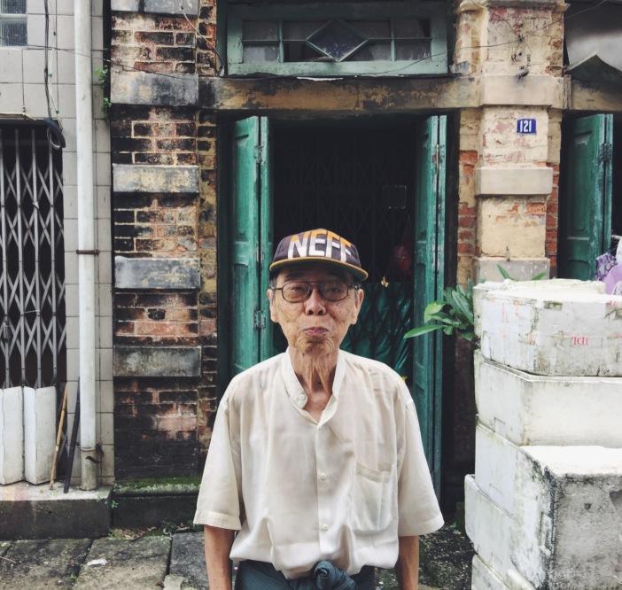 Old man in Yangon, Myanmar