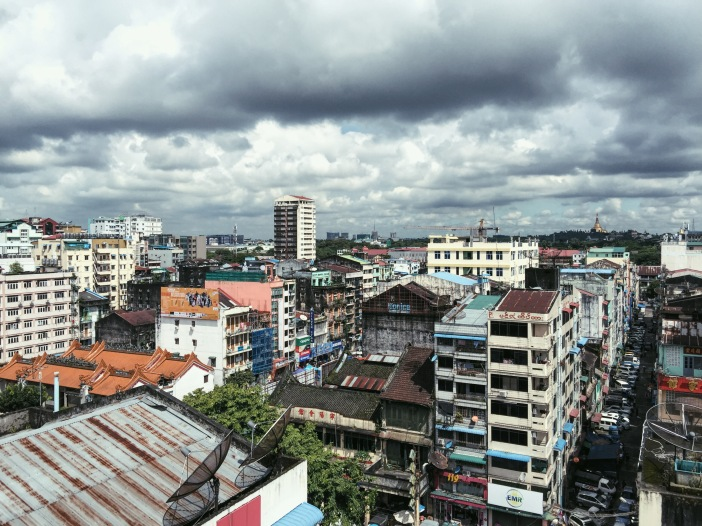 View over downtown Yangon, Myanmar.